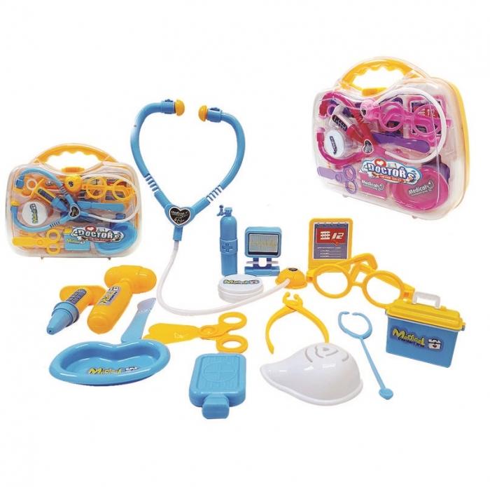 kit medico brinquedo doutora infantil na maleta 17 pe�as