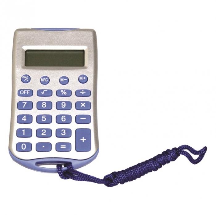 calculadora de bolso com cord�o 8 d�gitos 23 teclas