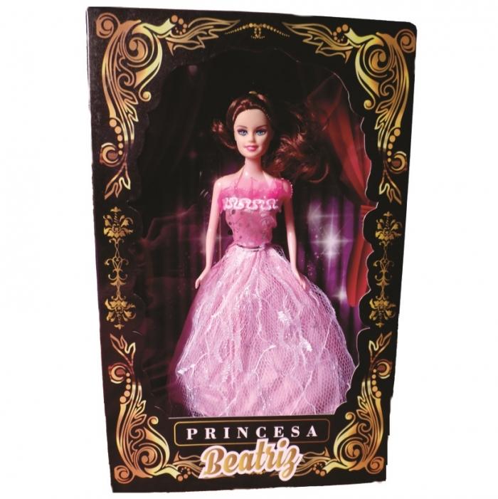 boneca princesa Beatriz na caixa