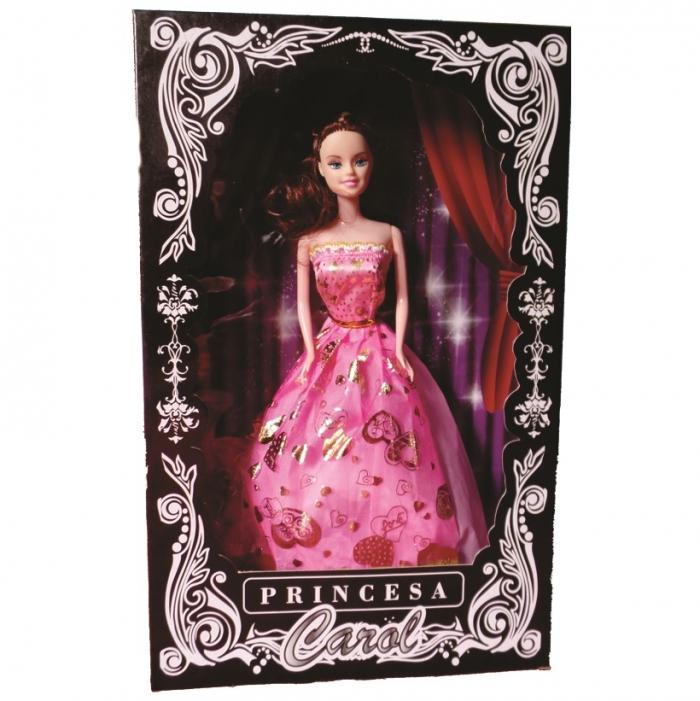 boneca princesa Carol na caixa