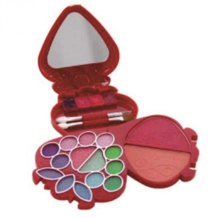 12 kit maquiagem any color com espelho sombra 3d, blush e batom