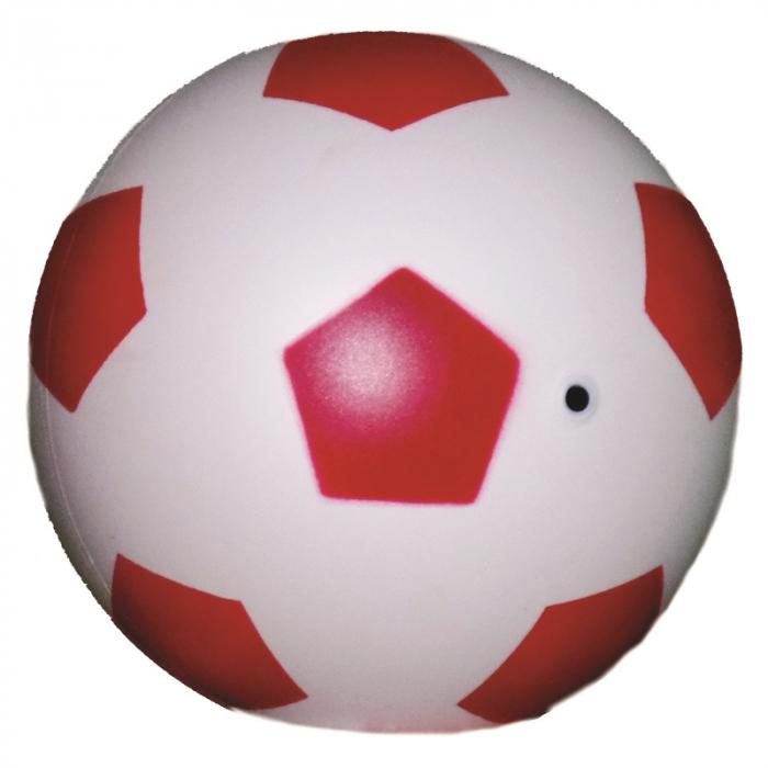 10 bola de vinil dente de leite de futebol branco com vermelho vazia