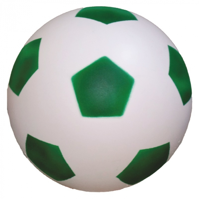 100 bola de vinil dente de leite de futebol branco com verde vazia