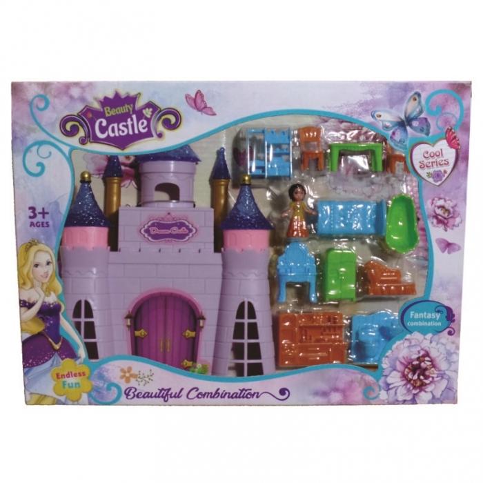 castelo brinquedo infantil com moveis e boneca