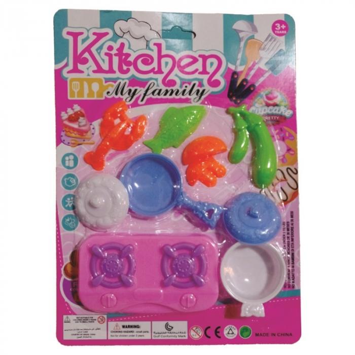 kit cozinha infantil brinquedo com 9 pe�as