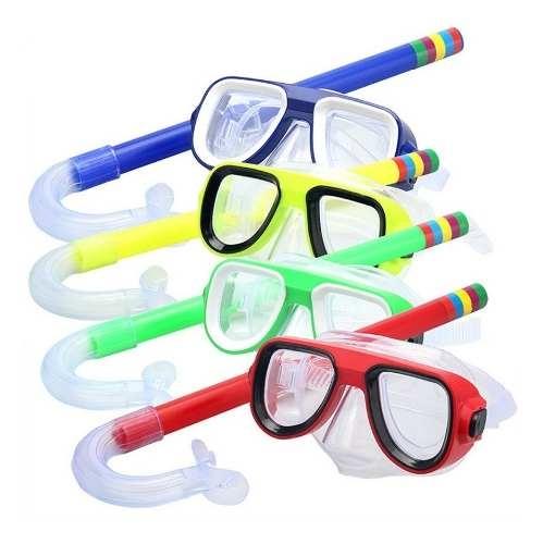 kit mergulho infantil mascara snorkel protetor de ouvido
