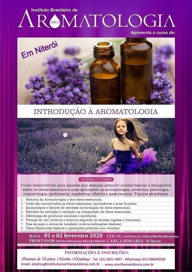 Inscrição: Curso Introdução à Aromatologia  - IBRA