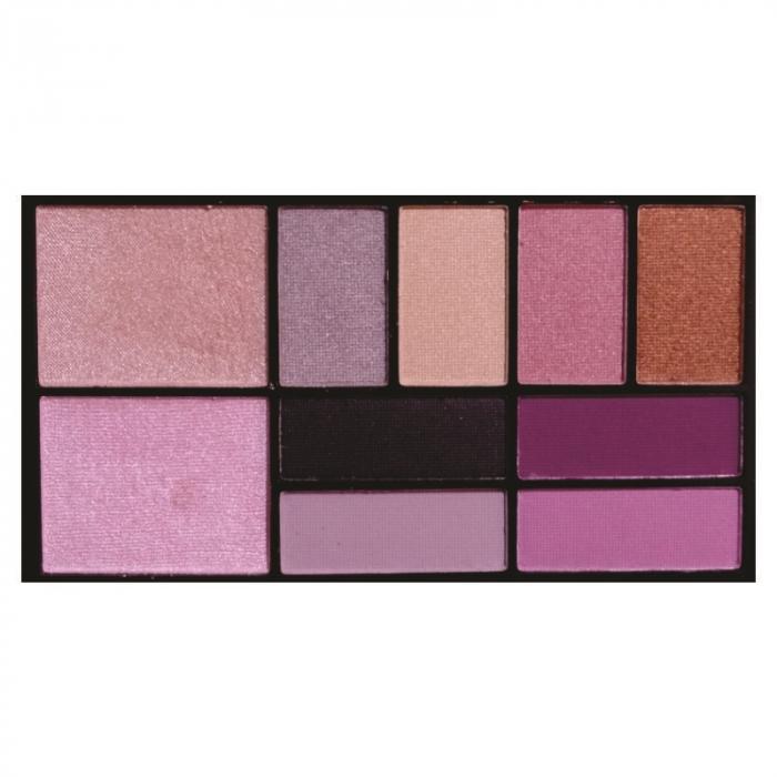 kit maquiagem sombra e iluminador any color 10 cores