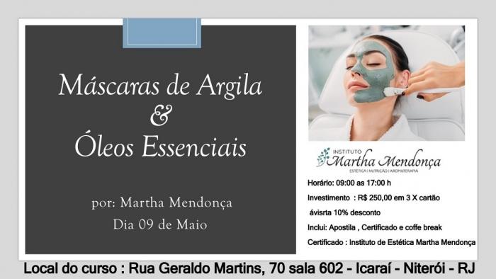Inscrição Máscaras de Argila & Óleos Essenciais