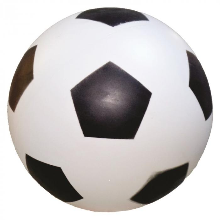 bola de vinil dente de leite de futebol branco com preto vazia