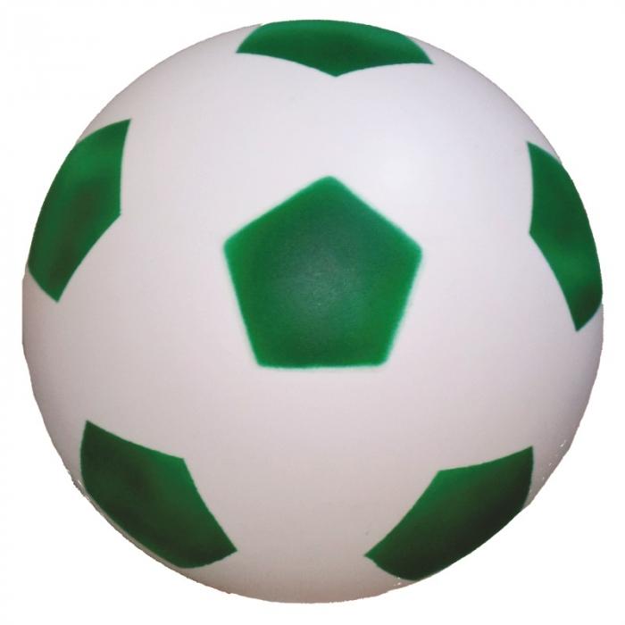 bola de vinil dente de leite de futebol branco com verde vazia