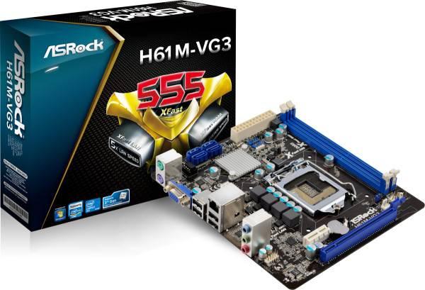 PLACA MÃE ASROCK H61M VG3 LGA 1155