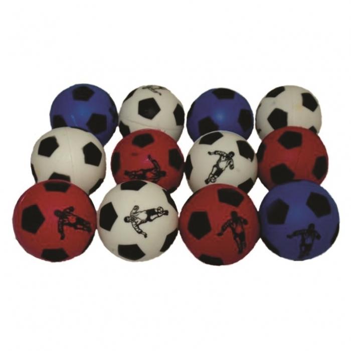 12 bola bolinha anti stress futebol fisioterapia massageadora