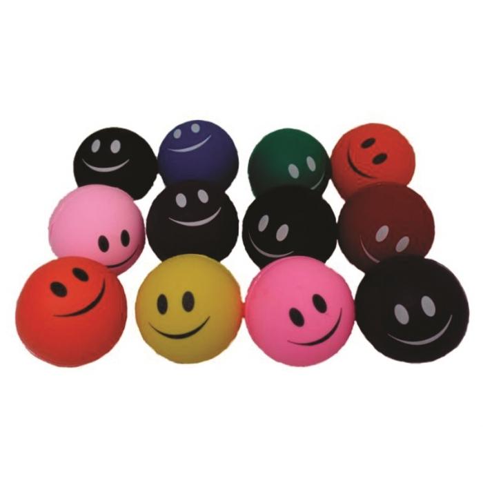 12 bola bolinha anti stress lisa fisioterapia massageadora com desenho
