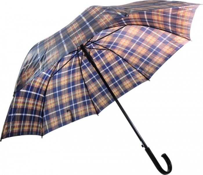 guarda chuva portaria xadrez cabo curvo autom�tico
