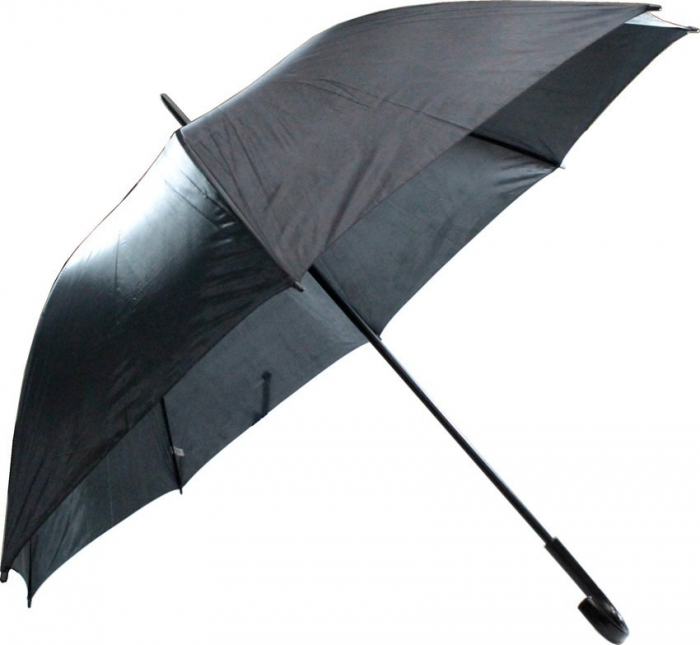 guarda chuva portaria preto cabo curvo autom�tico