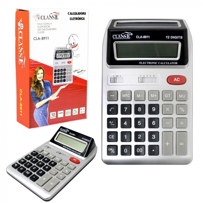 calculadora grande de mesa comercial escrit�rio 12 d�gitos