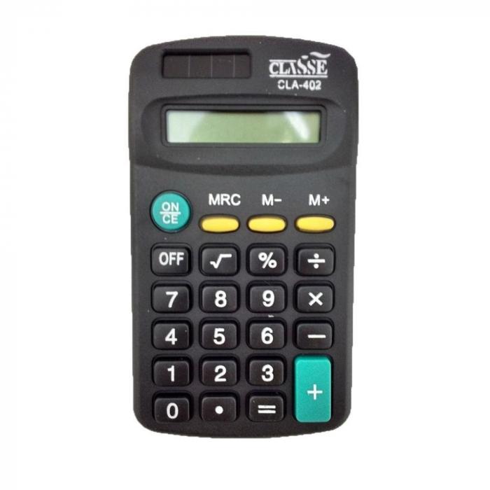 Calculadora pequena de bolso port�til preto 8 d�gitos