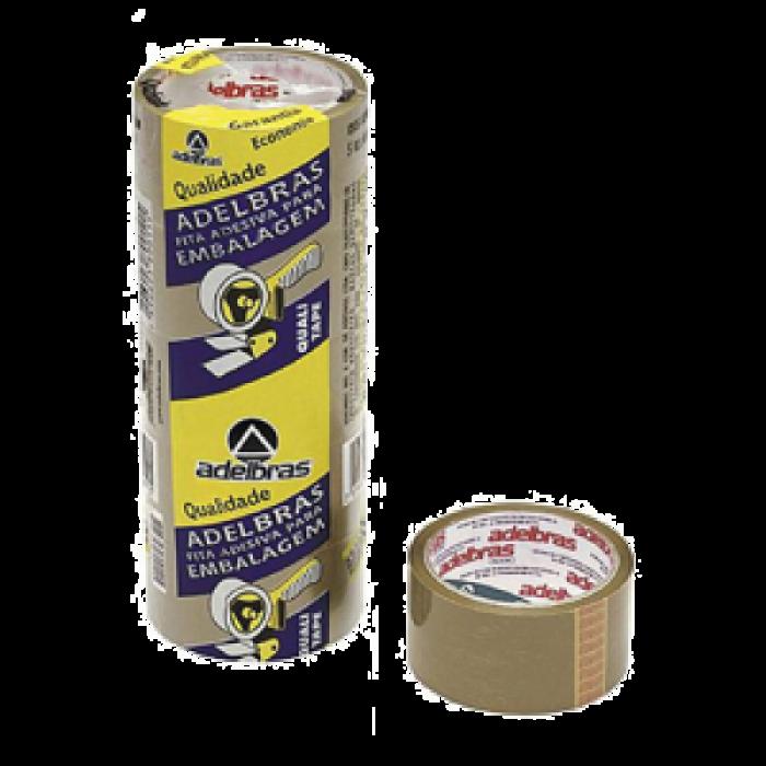4 Fitas adesivas pvc 40 m X 48 mm para caixas de papel�o marrom