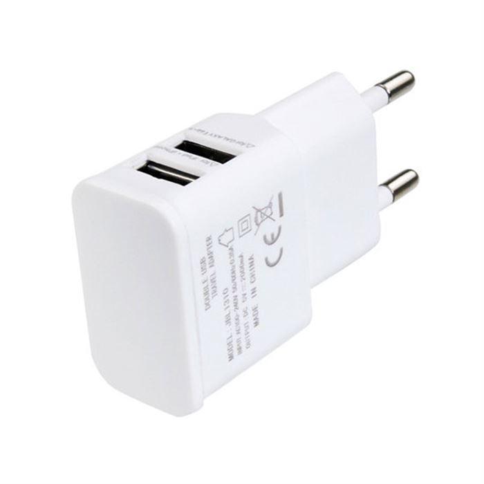 CARREGADOR UNIVERSAL VEICULAR BRANCO 2 USB