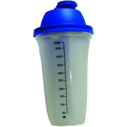 copo coqueteleira shake com medidor 500 ml academia fitness