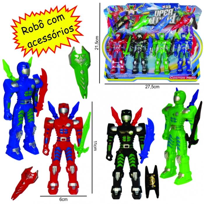 kit de rob� infantil com 4 bonecos e acess�rios