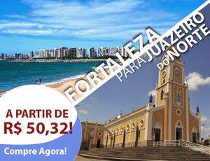 Passagem de ônibus de Fortaleza para Juazeiro do Norte