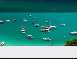 Passagem de onibus da Viacao 1001 de Arraial do Cabo para Rio de Janeiro