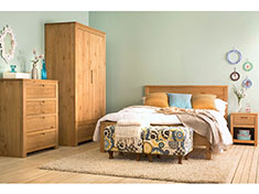Conjunto de Quarto Soho - Cera Natural