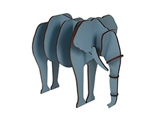 Elefante Wood Toy - Azul Cosmos