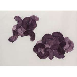 DAVID CURY<br>Thoughtful Violet n. 5<br>acrílica c/ papel, ass., dat. 2010 e tit. lat. esq. <br>50 x 70 cm