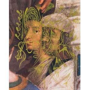 LAURA LIMA<br>Ouro Flexível (Auto Retrato 1510/11 Rafael)<br>canela gel ouro s/ catálogo de arte, ass., dat. 2020 e com a indicação Auto Retrato 1510/11 Rafael no verso (2019)<br>23 x 18 cm