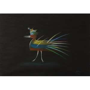 ROBERTO MAGALHÃES<br>Sem Título<br>lápis de cor s/ papel, ass. e dat. 1982 inf. dir.<br>34 x 48 cm