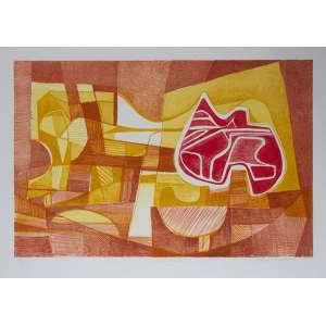 BURLE MARX, Roberto<br>Mazomba<br>litografia em cores impressa s/ papel, ass., dat. 1985 inf. dir., tit. no centro inf. e n. 31/70 inf. esq.<br>MI 41,5 x 63,5 cm - ME 56 x 75 cm
