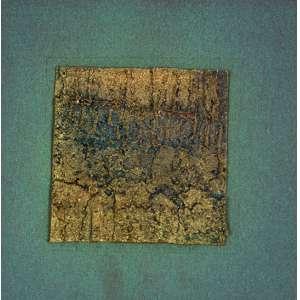 LUIZ FERRAZ<br>Sem Título<br>colagem e pigmentos naturais s/ papel, s/ ass.<br>15 x 14,5 cm