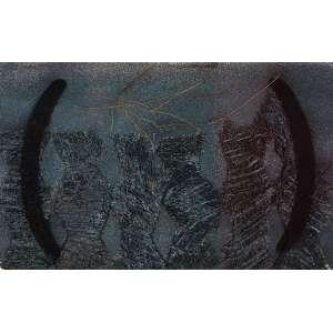 VERGARA, Carlos<br>Sem Título<br>óleo e pigmentos naturais s/ papel, ass. e dat. 1988 inf. esq.<br>31 x 49 cm