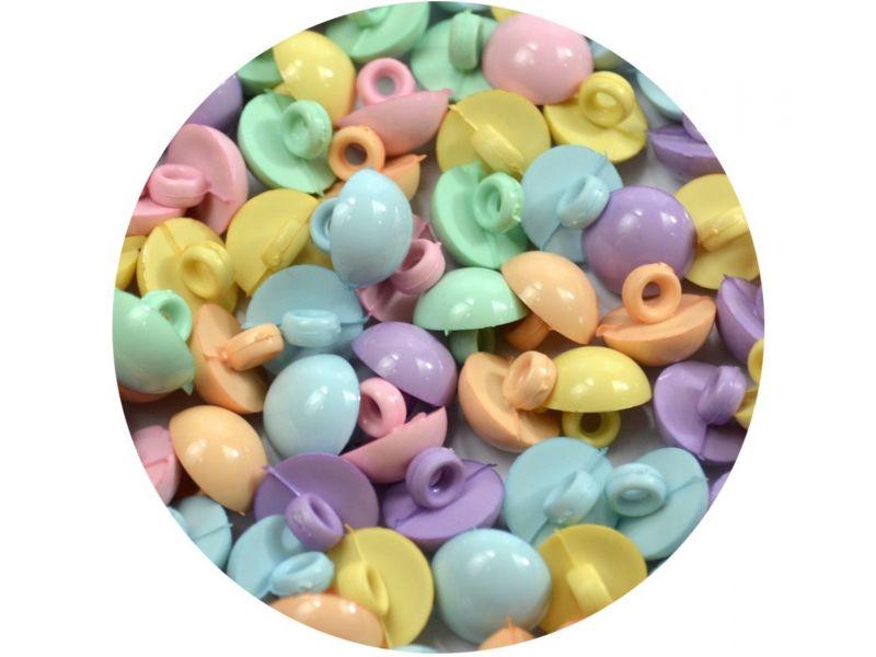 Botão 1/2 Bola  - Candy Colors