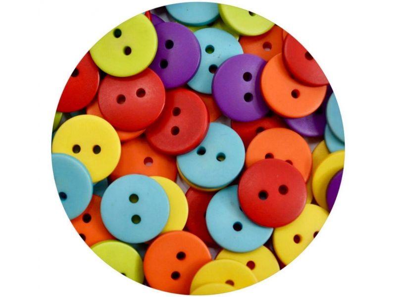 Botão Pastilha-  Rainbow