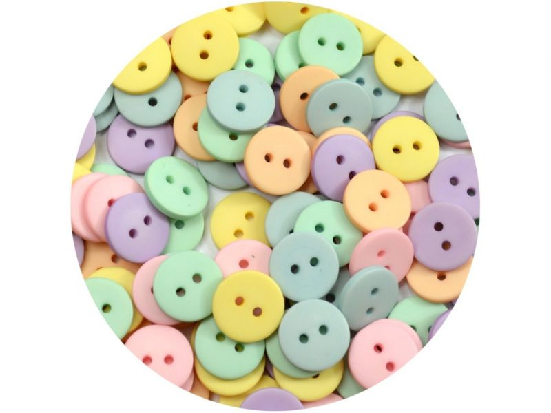 Botão Pastilha - Candy Colors