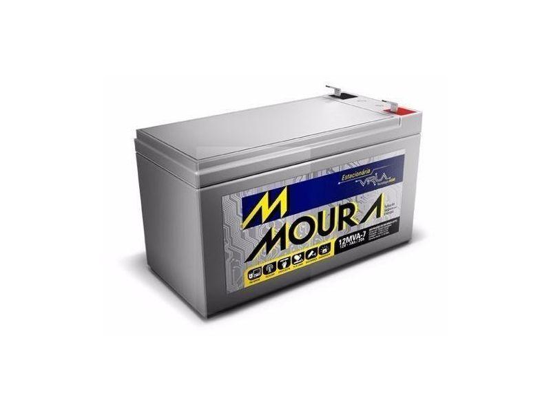 Bateria Nobreak 7ah Moura Vrla 12mva-7 Moura No-break cerca elétrica alarme