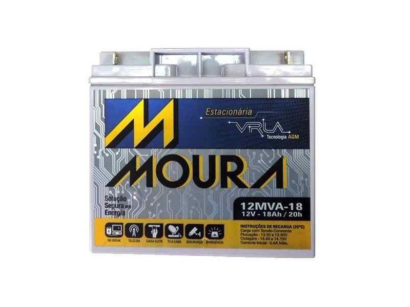 Bateria Nobreak 18ah Moura JETSKI  CFTV  ENERGIA SOLAR Vrla 12mva-18