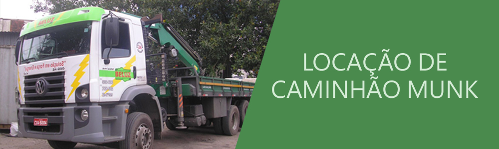 Locação de caminhão MUNK