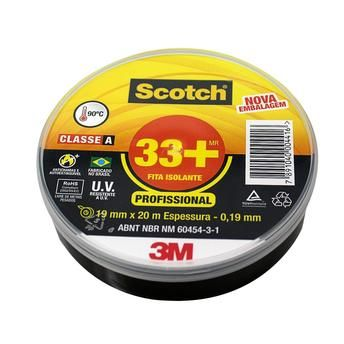 FITA ISOLANTE 3M - SCOTT 33+  19MM x 20MT - 0,19mm