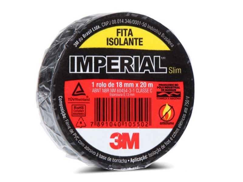 FITA ISOLANTE 3M - IMPERIAL 18MM X 20 MT - 0,13mm