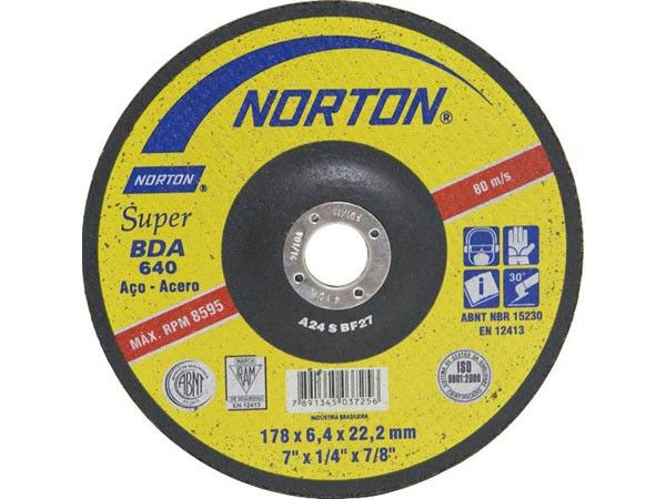 Disco de Desbaste BDA-640 para Metais 178x6,4x22mm - Norton