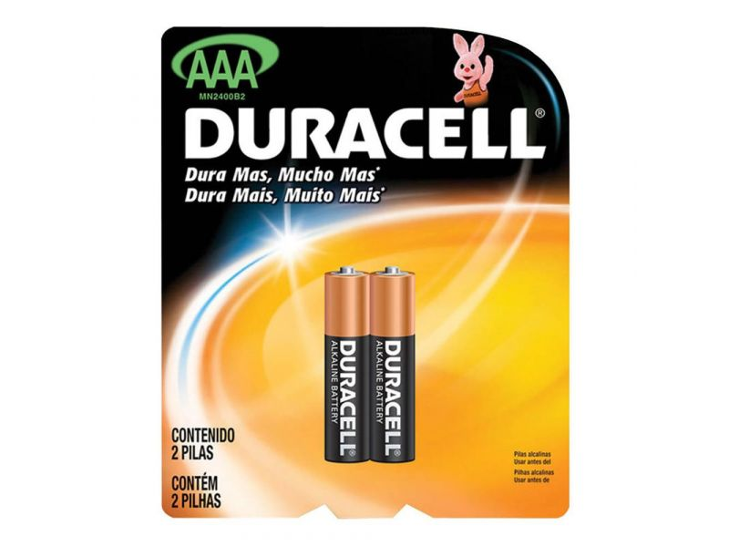 PILHA DURACELL PALITO AAA C/2