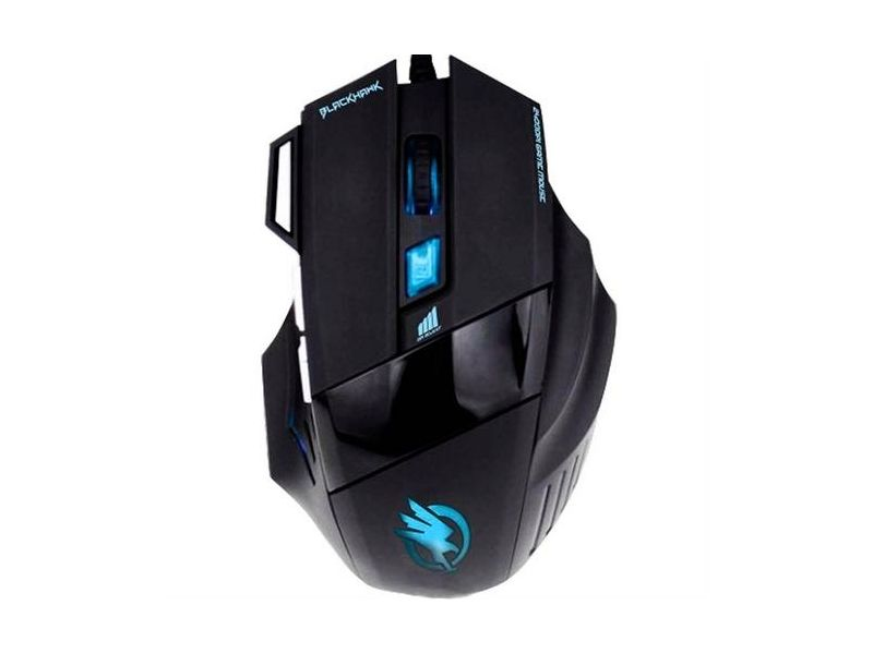 Mouse Gamer Black Hawk Optico Usb 2400 Dpi Om703 Fortrek