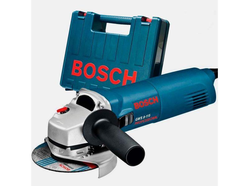 Esmerilhadeira 4.1/2 Pol. 850w. Gws 8-115 C/ Maleta Bosch - 220 Volts