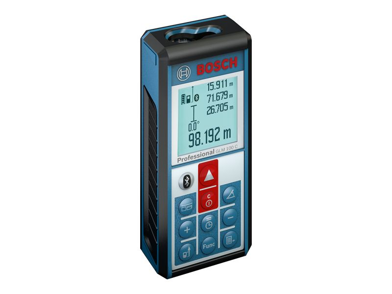 Medidor De Distância À Laser Glm-100 C Profissional Com Função Bluetooth Bosch