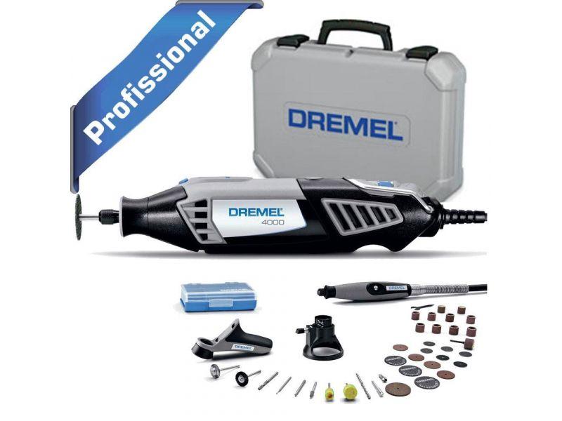 Micro Retifica Dremel 4000 C/36 Acessórios + 3 Acoplamentos-220v